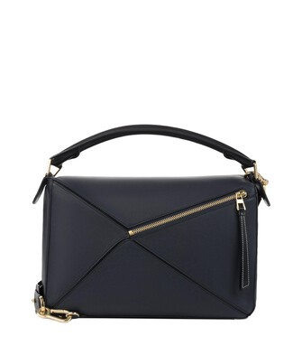 31cdf0d82663 LOEWE Puzzle Large Bag Midnight Blue Black front
