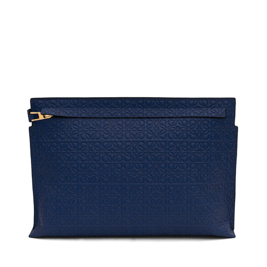 LOEWE T Pouch Repeat Navy Blue front