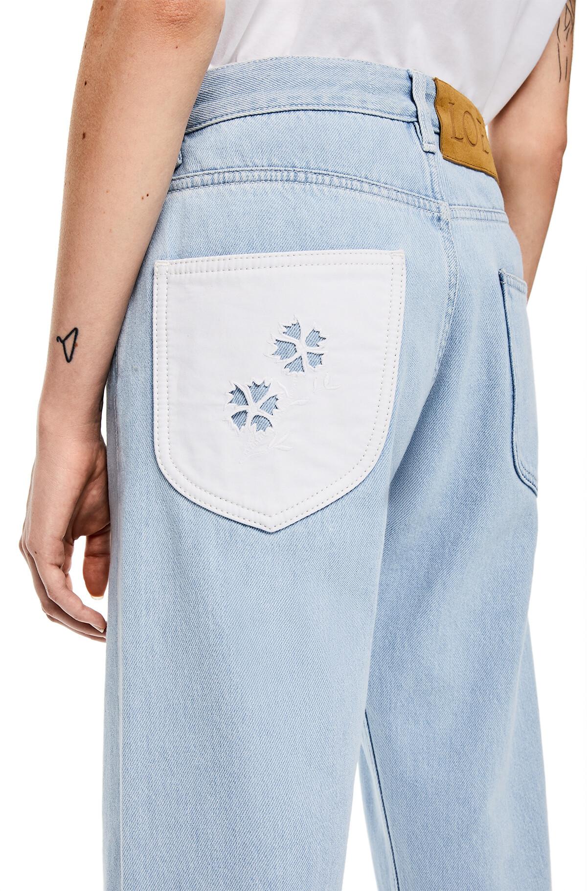 LOEWE Embroidered Back Pocket Jeans Light Blue front