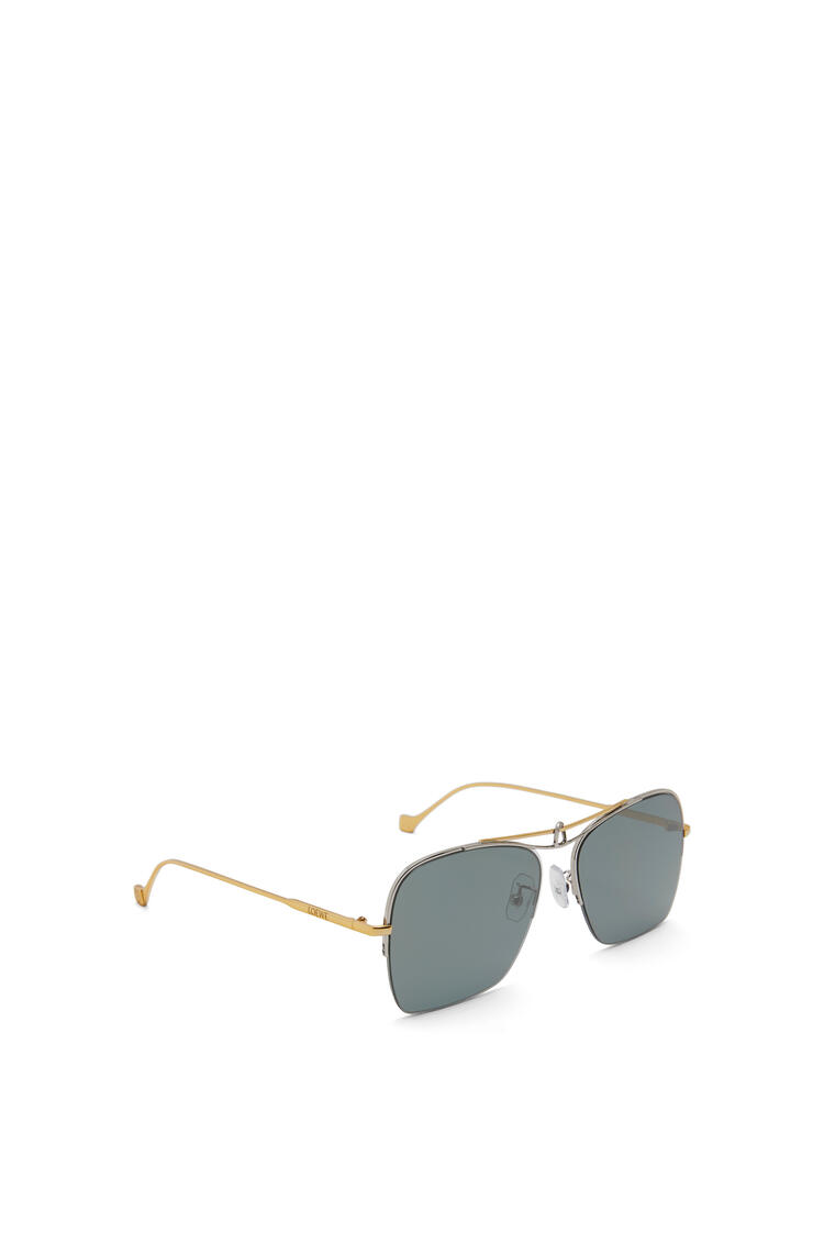 LOEWE Knot pilot square sunglasses Gold/Green Smoke pdp_rd