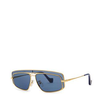 LOEWE Gafas Rectangulares Oro/Azul front