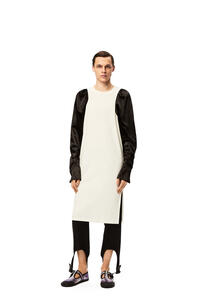 LOEWE Bicolour long sleeve T-shirt in cotton and viscose Ecru/Black pdp_rd