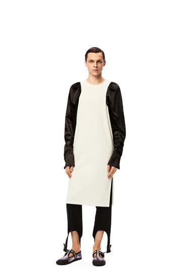 LOEWE Bicolor long sleeve t-shirt in cotton and viscose Ecru/Black pdp_rd