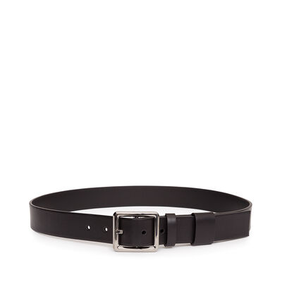 LOEWE Square Buckle Belt 3.2Cm Black/Black/Rutenium front