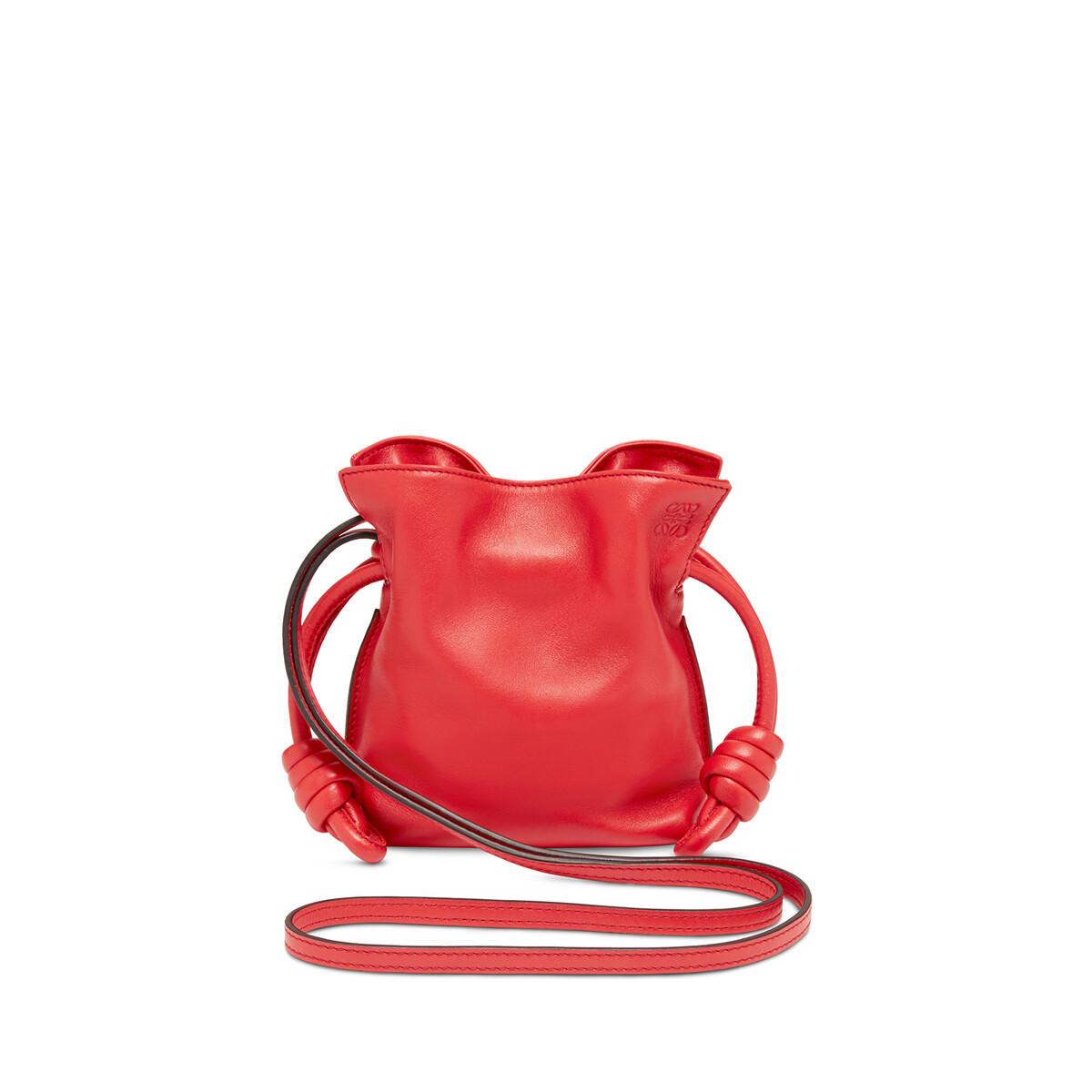 LOEWE Flamenco Knot Mini Bag Scarlet Red front