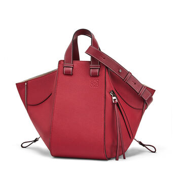 LOEWE Hammock Medium Bag 覆盆莓色 front