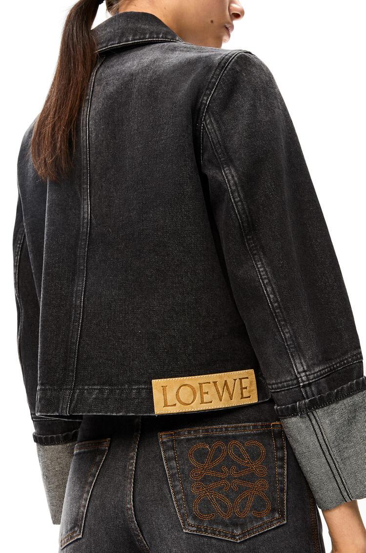 LOEWE Button jacket in denim Black pdp_rd
