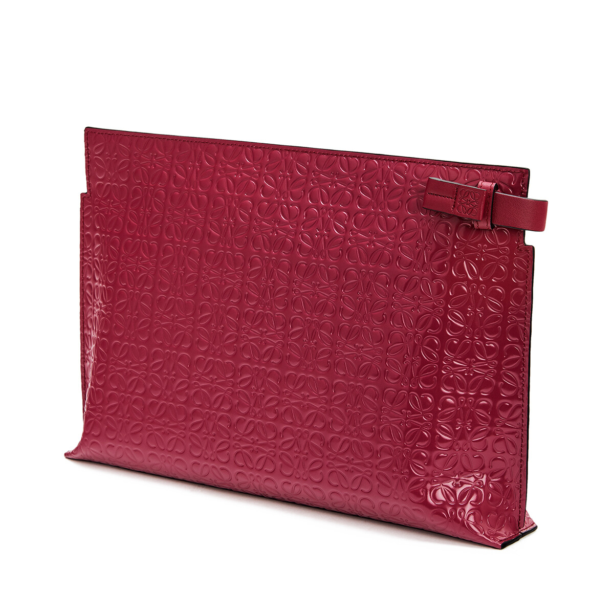 LOEWE T Pouch Repeat Raspberry front