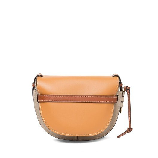 LOEWE Gate Small Bag Amber/Light Grey/Rust Colour front