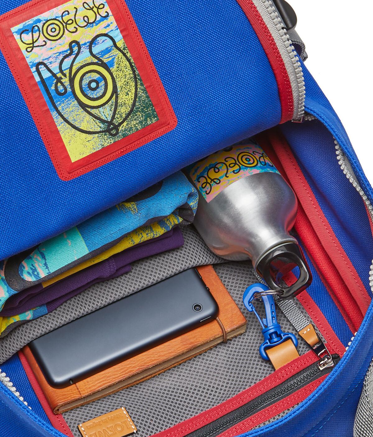 LOEWE Eye/Loewe/Nature Backpack Blue/Red front