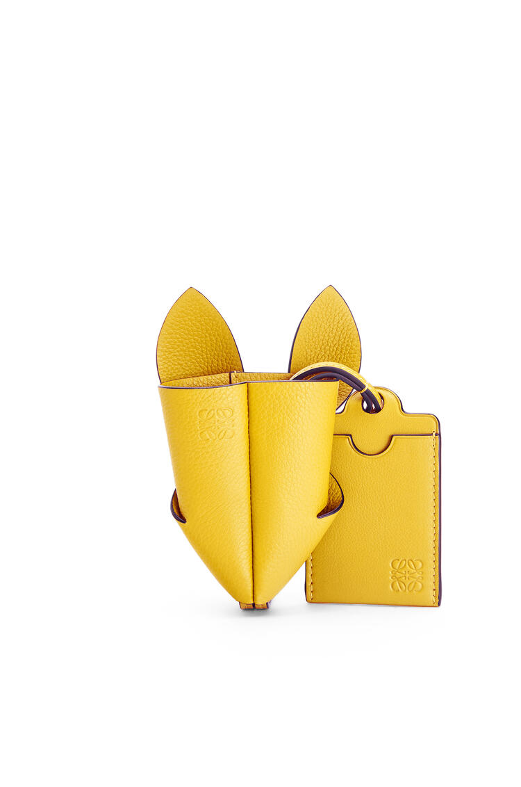 LOEWE Bunny key cardholder in grained calfskin Yellow pdp_rd
