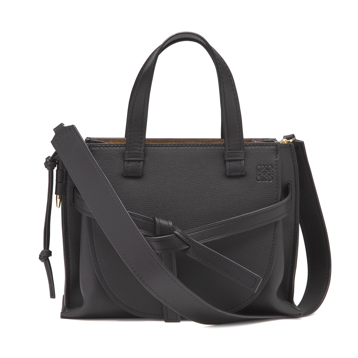 LOEWE Gate Top Handle Small Black front
