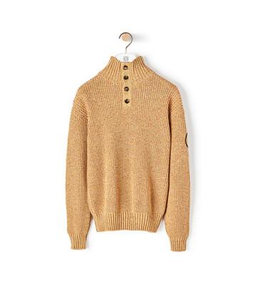 LOEWE Eln Melange High Neck Sweater 芥末 front