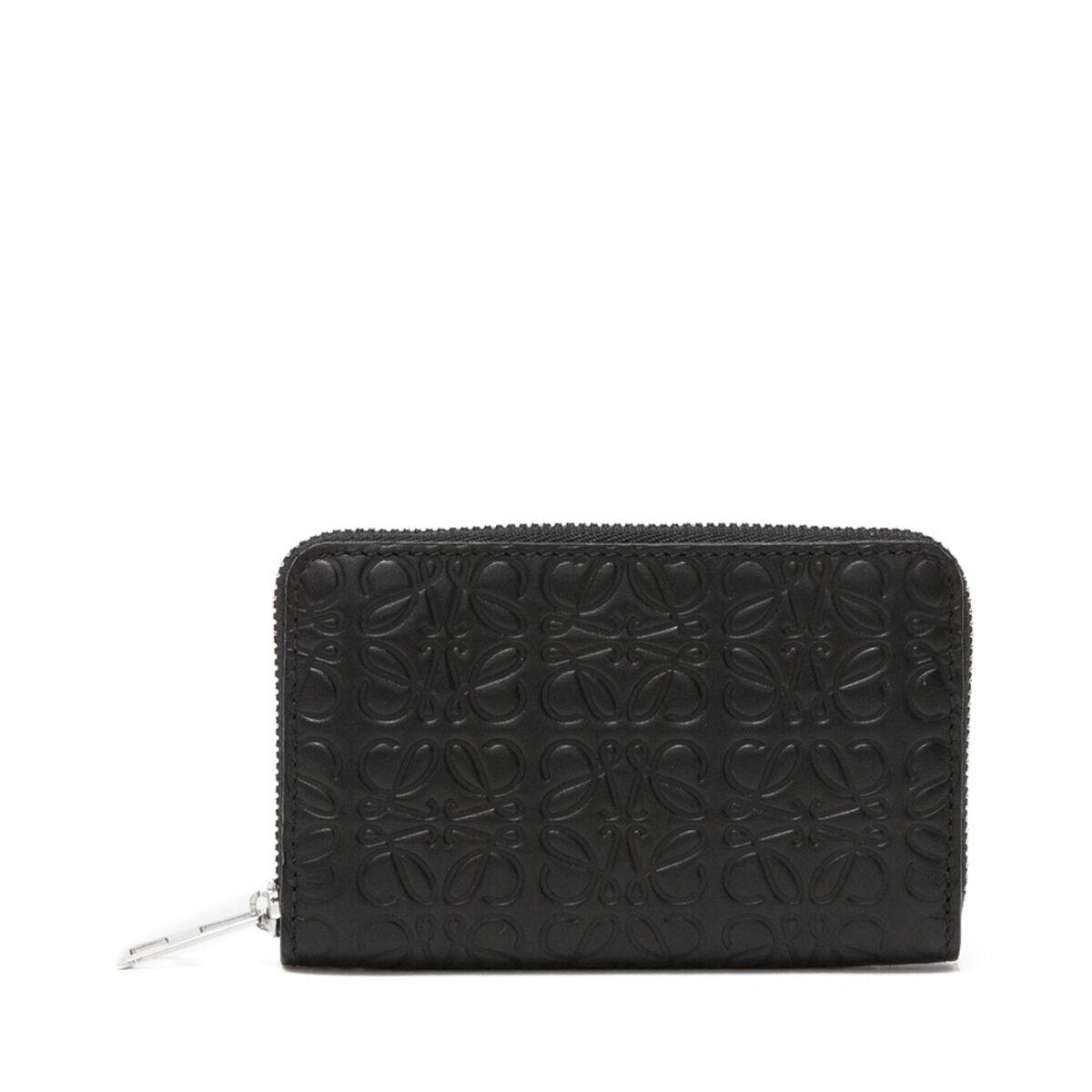 LOEWE Zip Card Holder Black front