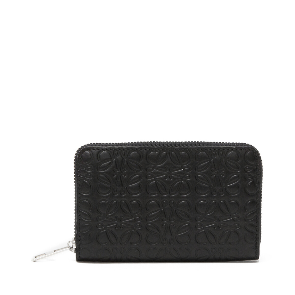 LOEWE Zip Card Holder 黑色 front