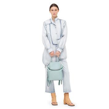 LOEWE Goya Small Backpack 水绿色 front