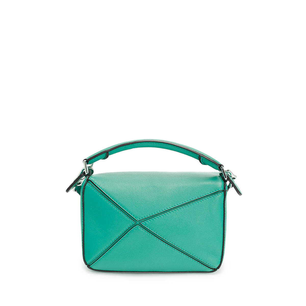 LOEWE Puzzle Mini Bag Emerald Green front