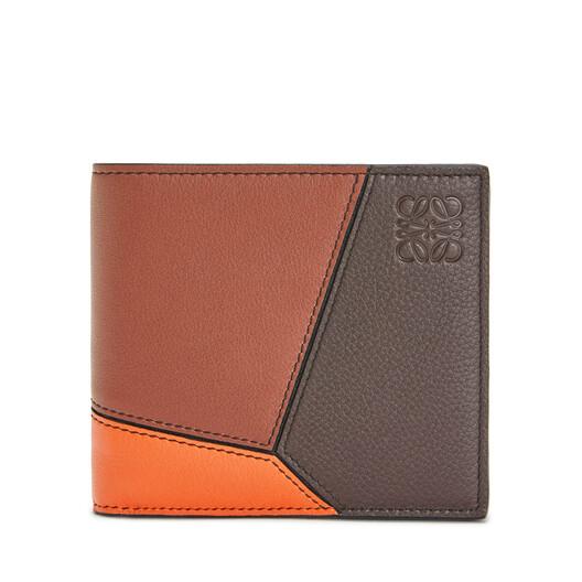 LOEWE Puzzle Bifold Wallet Cognac/Chocolate Brown front