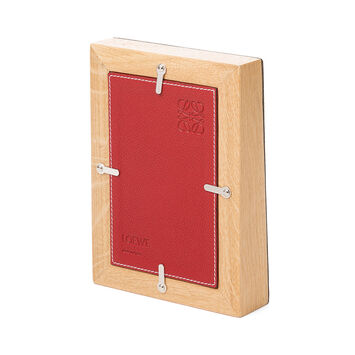 LOEWE Photo Frame Small Cherry front