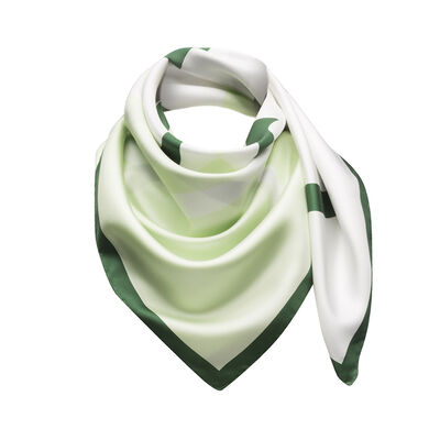 LOEWE 90X90 Scarf Giant Anagram Green/White front
