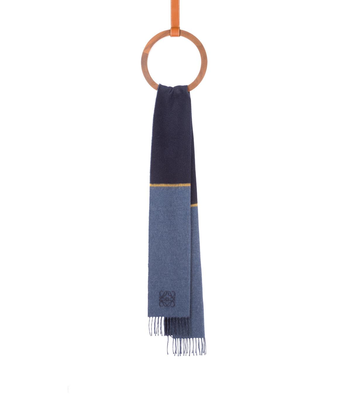 LOEWE 30X180 ウィンドウ スカーフ ストライプ yellow/blue all
