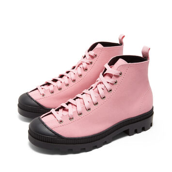 LOEWE Lace Up Boot Pink front