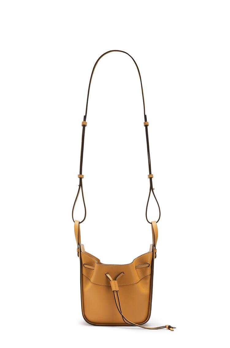 LOEWE Mini Hammock Drawstring bag in nappa calfskin Light Caramel pdp_rd