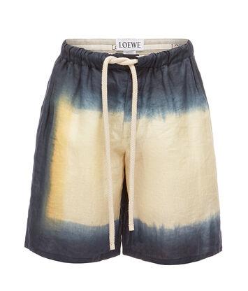 LOEWE Shorts Tie & Dye Black/Beige front