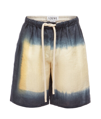 LOEWE Tie And Dye Shorts Negro/Beige front