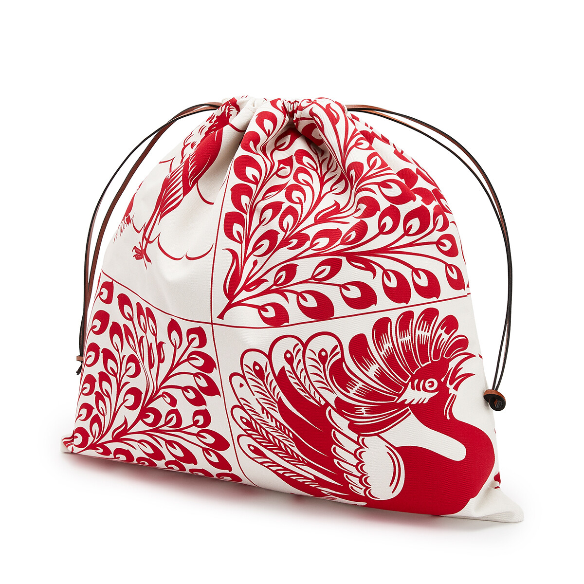 LOEWE Drawstring Pouch Tiles Large Red front