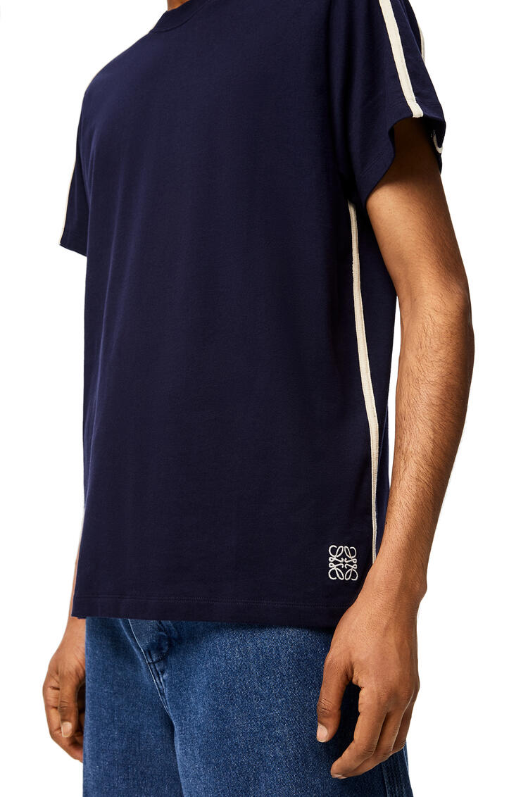 LOEWE Anagram embroidered t-shirt Navy Blue pdp_rd