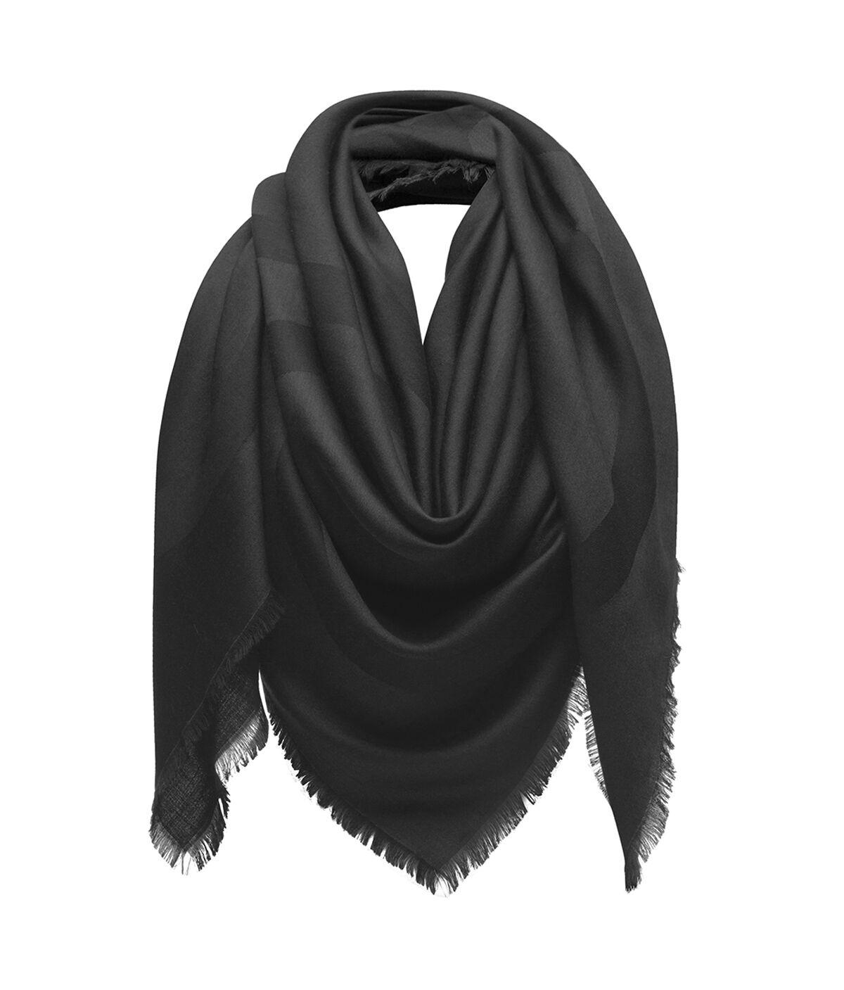 LOEWE 140X140 スカーフ ジャイアント アナグラム ブラック all