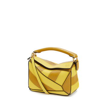 LOEWE Puzzle Rugby Mini Bag Ochre/Yellow front