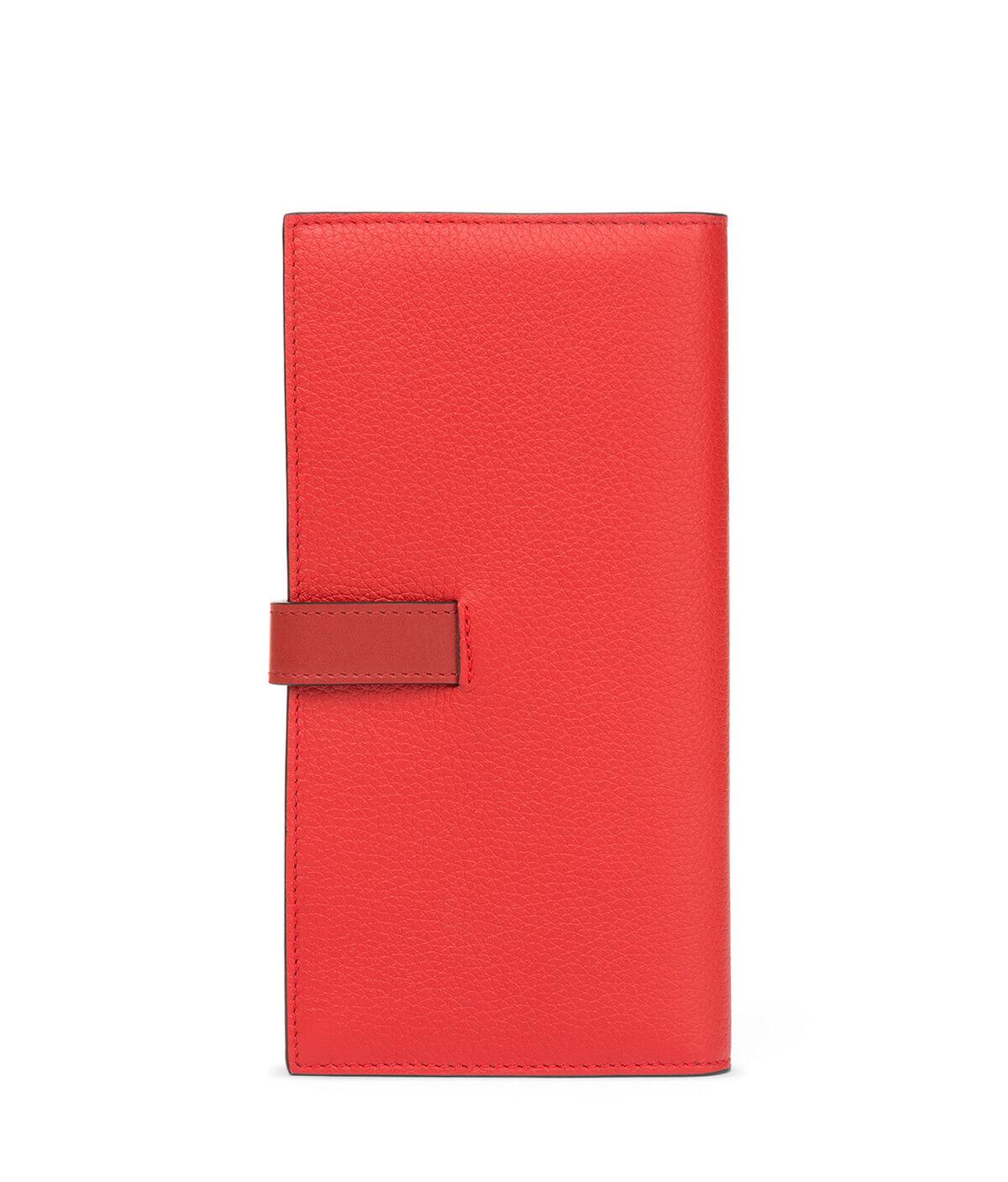LOEWE Billetero Largo Vertical Rojo Escarlata/Rojo Teja all