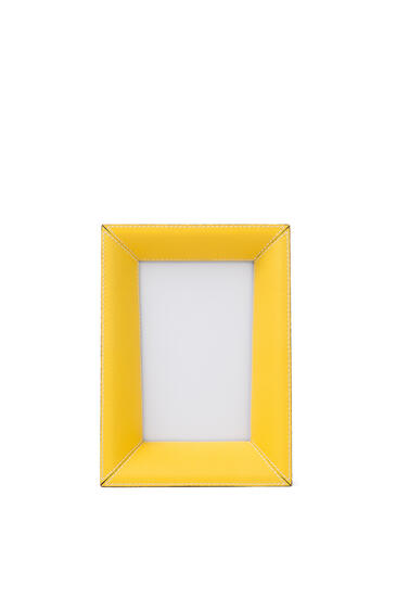 LOEWE Small photo frame in grained calfskin Yellow pdp_rd