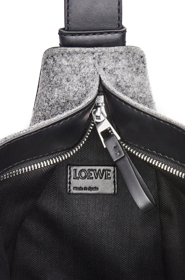 LOEWE 小号条纹帆布和牛皮革 Anton 背包 蓝色/黑色 pdp_rd