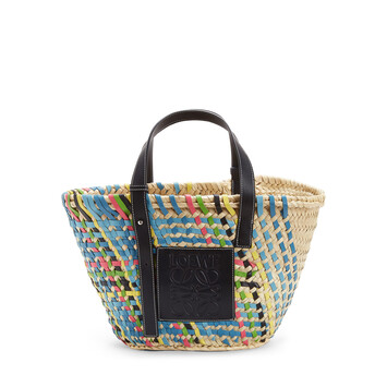 LOEWE Basket Bag Blue Multitone/Black front