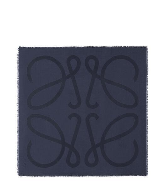 LOEWE 140X140 Scarf Giant Anagram Marine Azul all