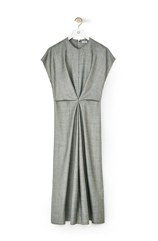 LOEWE Draped Dress Gris front