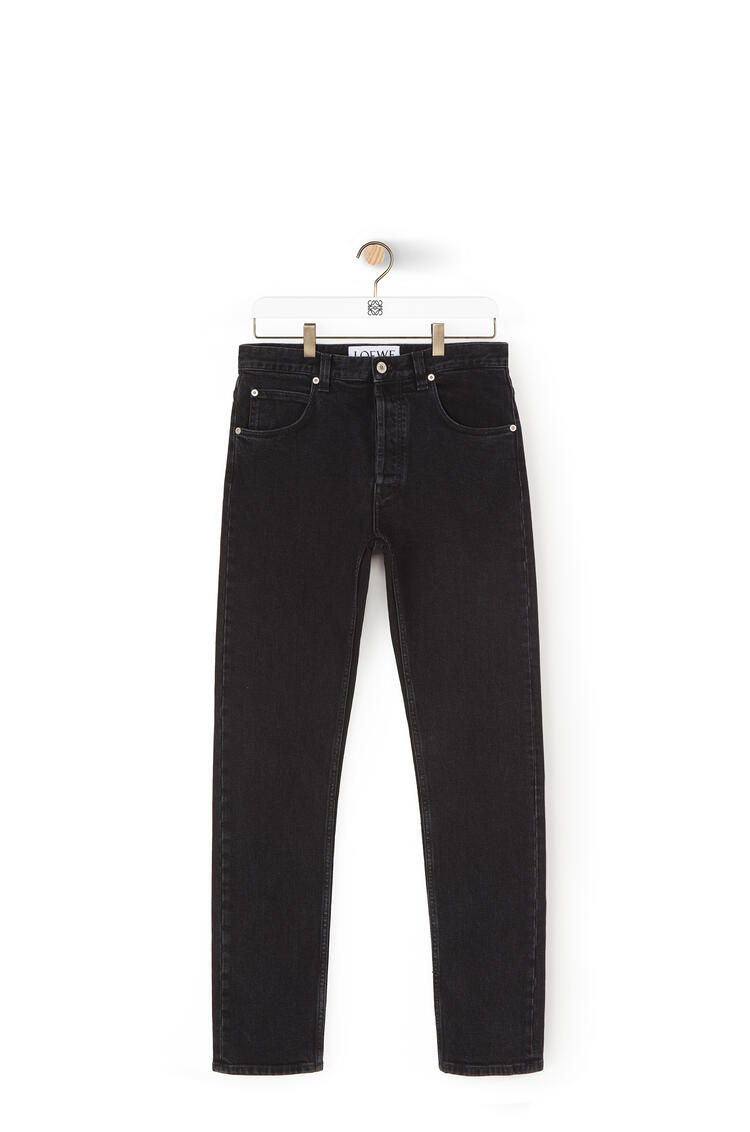 LOEWE Tapered jeans in cotton Black pdp_rd