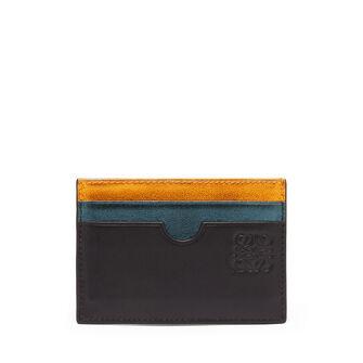 LOEWE Rainbow Plain Card Holder Metallic Multicolor front