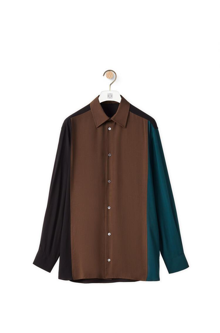 LOEWE Colour block shirt in viscose Multicolor pdp_rd