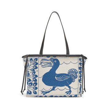 LOEWE Cushion Tiles Bag Blue front
