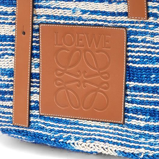 LOEWE バスケットバッグ blue/tan front