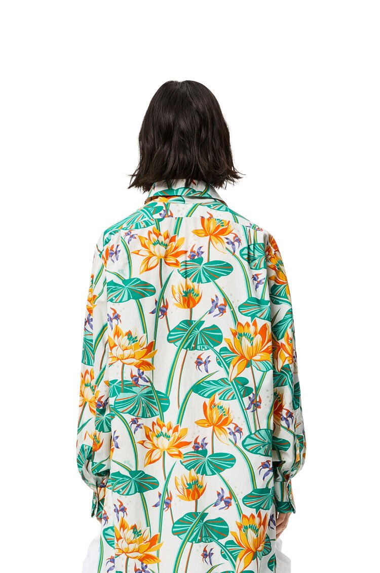 LOEWE Oversize Shirt In Waterlily Silk White/Orange pdp_rd