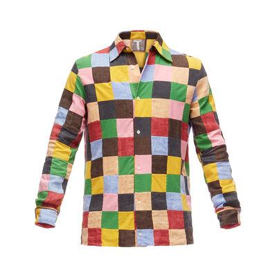 LOEWE Shirt Patchwork マルチカラー front