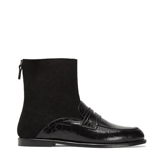 LOEWE Sock Boot Loafer Negro front