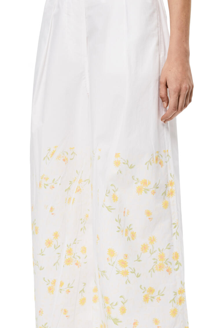 LOEWE Cropped Trousers In Flower Cotton White/Yellow pdp_rd