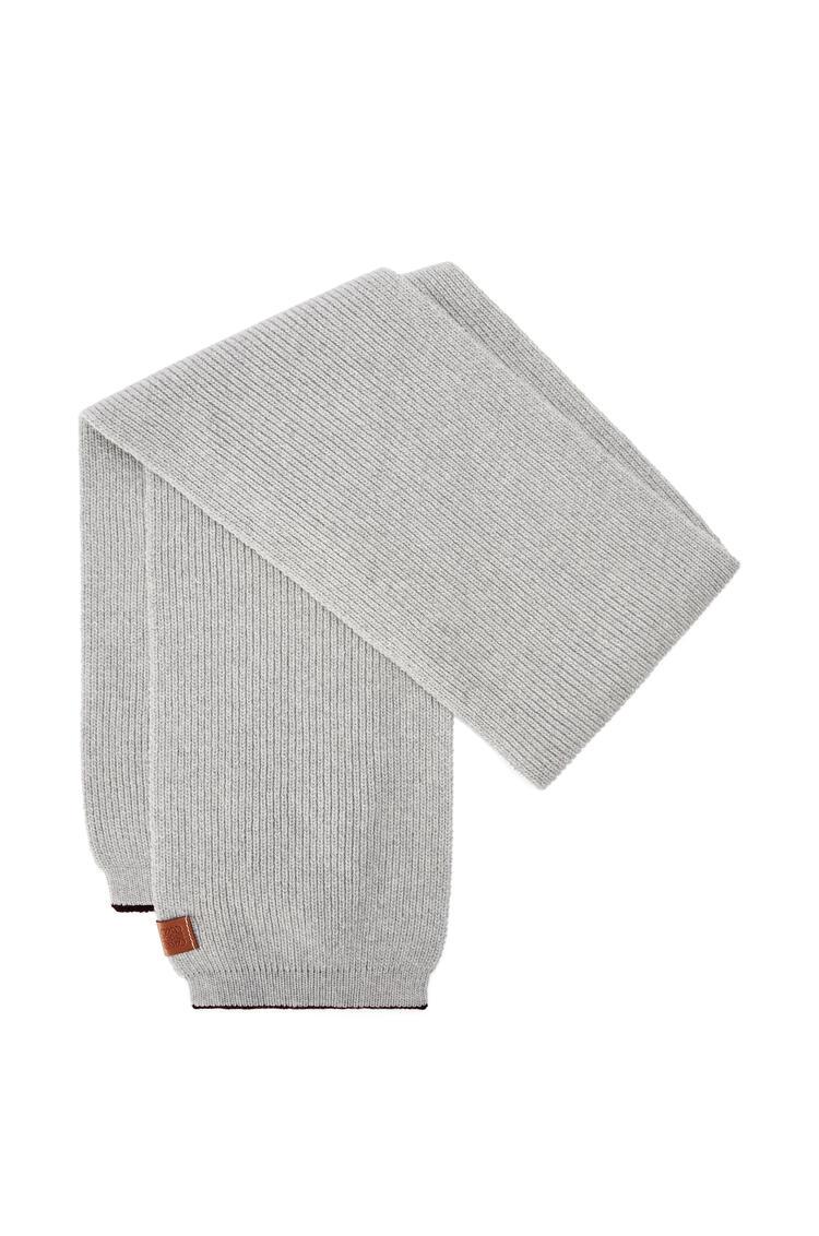 LOEWE Knitted scarf in wool Grey Melange pdp_rd