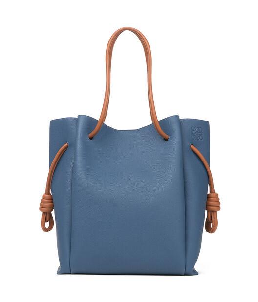 LOEWE Flamenco Knot Tote Bag Varsity Blue/Tan all